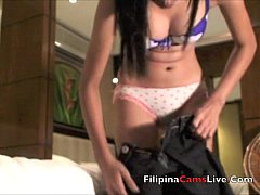Asian stripper gets ready to do private strip s...