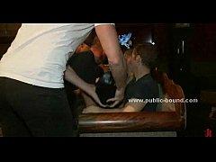 Man covered in latex gay gangbang sex