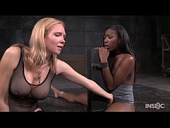 Lezdom Rain DeGrey Captures Ebony Reporter Chanell Heart
