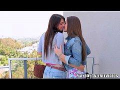 Sexy lesbian teens show their love
