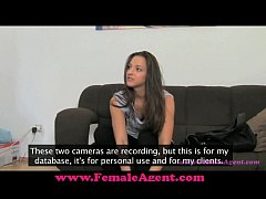 FemaleAgent Pleasuring an agent.