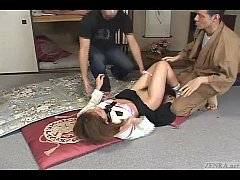 Japanese schoolgirl bizarre spanking and threesome Subtitled