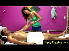 Asian masseur gets her client horny