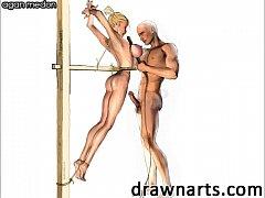 BDSM artist Agan Medon loves to draw his ladies...