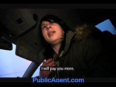 PublicAgent Jana fucks me in the car for money