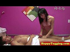 Ethnic masseuse on spycam jerking