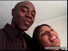 Lucky Latina slut receives two