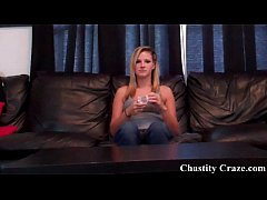 Locked in a chastity device by Mistress Dacy