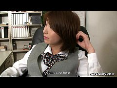 Asian office lady Tsubaki getting fucked by her...