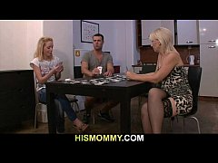 Guy leaves and his mother toying girl