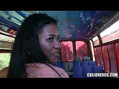 Fat Booty Colombian Teen on Bus