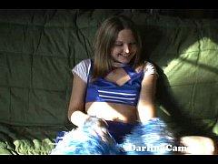 Young 18YO Cheerleader Masturbates - DarlingCam...