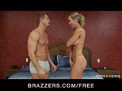 Sexy blond MILF Brandi Love is massaged & fucked by her masseur