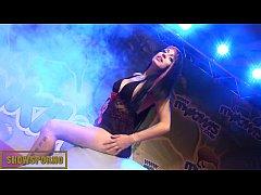 Brunette spanish pornstar fucking on stage