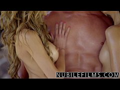 NubileFilms - Cum sharing girlfriends outdoor o...
