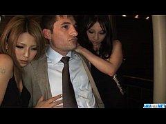 Naughty cock sharing porn with Akari Kimishima