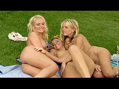 Paulina, Gina and Rene in Lesbian erotic sex threesome on Sapphic Erotica