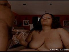 Mz Buttaworth BBW Ebony Takes Black Schlong