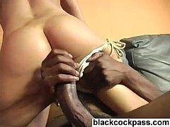 Nasty blonde slut sucking huge black cocks
