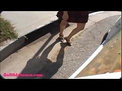 icecream truck teen schoolgirl puffy black hair