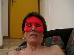 Sensual and hot amateur milf in mask jerking of...
