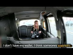 Blonde petite pays sex to the driver for the ta...
