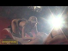 Beauty pornstars hot dance on stage