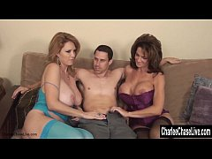 Charlee Chase Double Teams on Cock for MILF 3Way