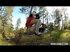 Norwegian MonicaMilf fucking outdoors on 17th may