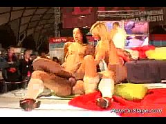 hard sex on porn stage
