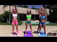 Real yoga teenager jizz