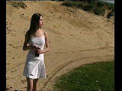 Lovely Irene Peeing Outdoor