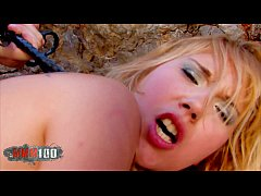 Amazing perfect blonde cop brutal ass fucking at the beach