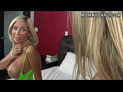 Busty blonde MILF Evita Pozzi seduces her stepd...