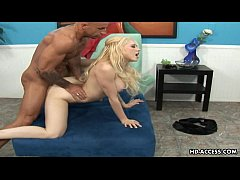 Smoking hot blonde with large hooters gets plow...