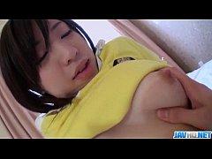 Ichigo loves feeling cream on her shaved Asian twat