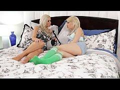 Step-mother Nina Elle and Tara Morgan Try Anal
