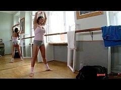 Bailarina fodida na ginástica hardcore