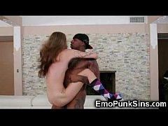 Skinny Punk Teen Got Blacked!