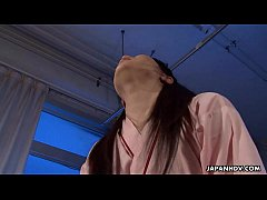 Asian bitch at a ward sucking a cock off