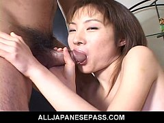 Sweet Japanese model has her pussy pounded hard