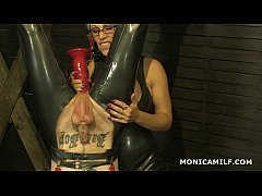Kinky Norwegian MonicaMilf is pegging the dirty...