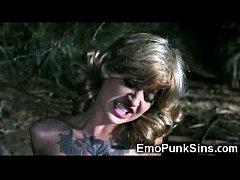 Tattooed Girl Fucked by a Demon Tree!