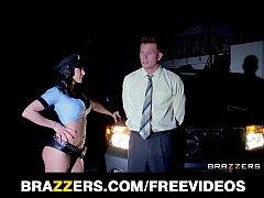Thick big tit cop deepthroats and rides dick li...