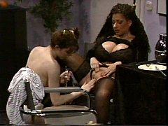 Busty Tiziana Redford in Black Lingerie lesbian...