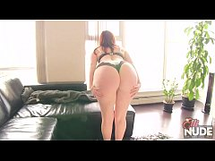 big ass redhead with hot curves strips and teases
