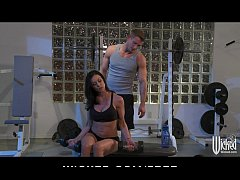 Incredibly FIT brunette MILF seduces her person...