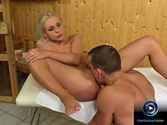Veronica Carso easily gets wet as she got drill...