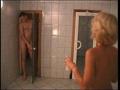 Elena (38 years old) - russian mom in sauna wit...