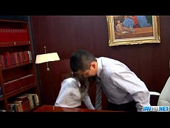 Ibuki, Japanese secretary, fucked in office